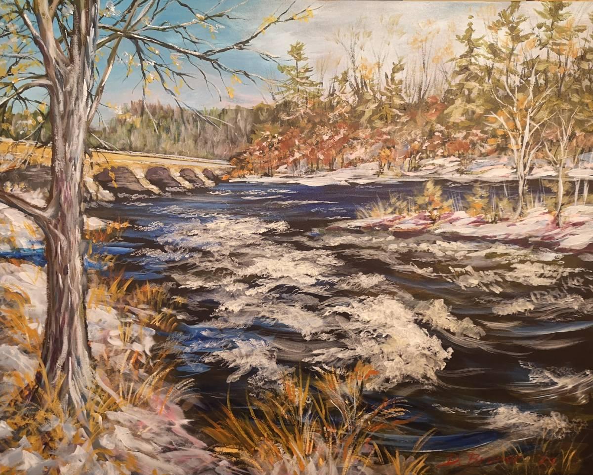 5-Span-Bridge  24x30 acrylic on canvas   $900