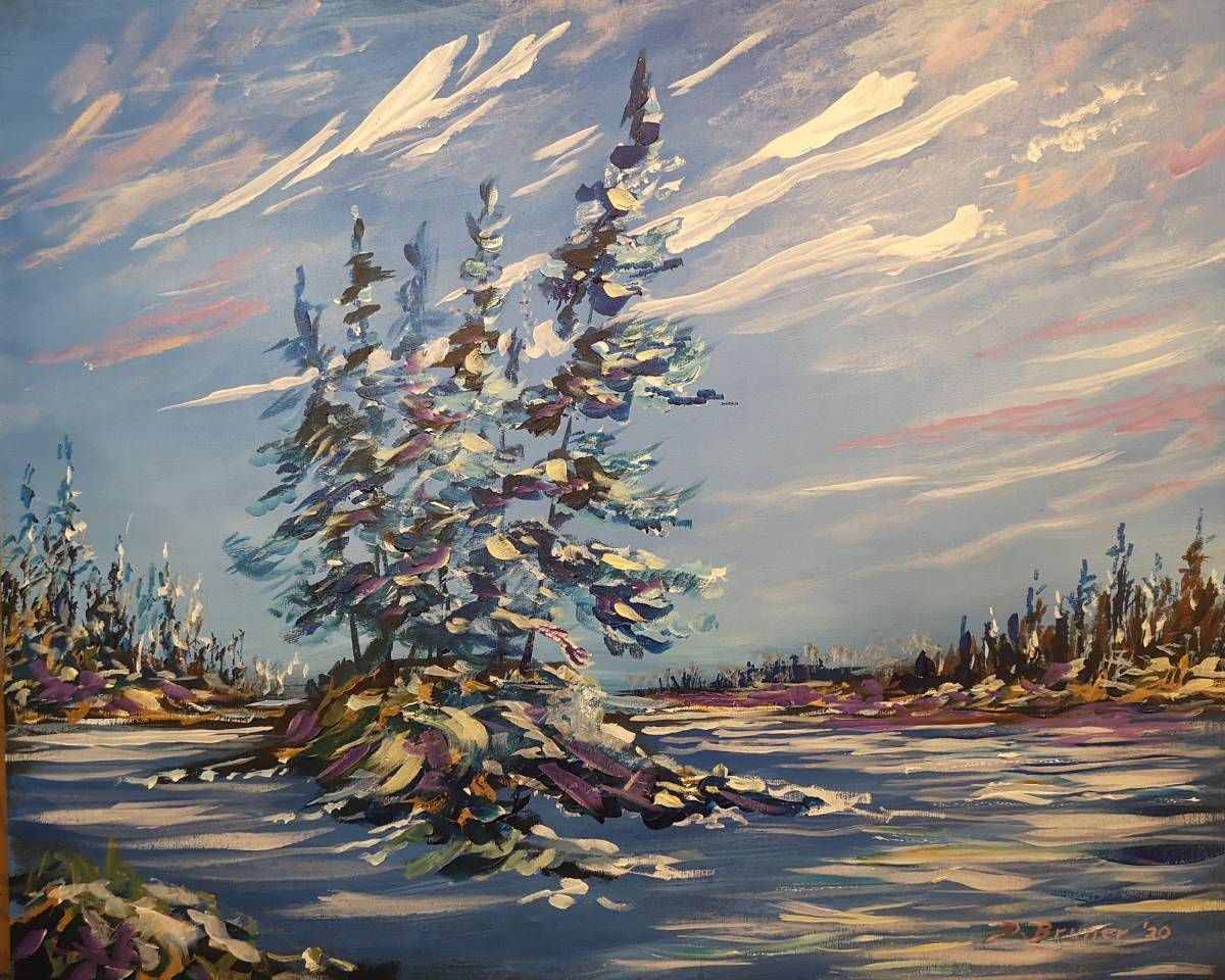 Cold-Day  24x30  acrylic on wood panel   Sold