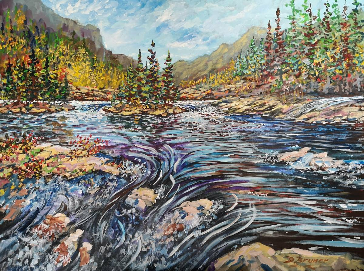 Great-Northern-River 30x40 acrylic on canvas  $1250