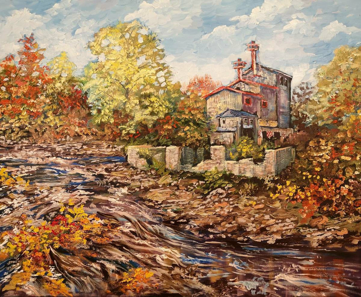 Old-Mill-at-Quyon 24x30 oil on wood  $900