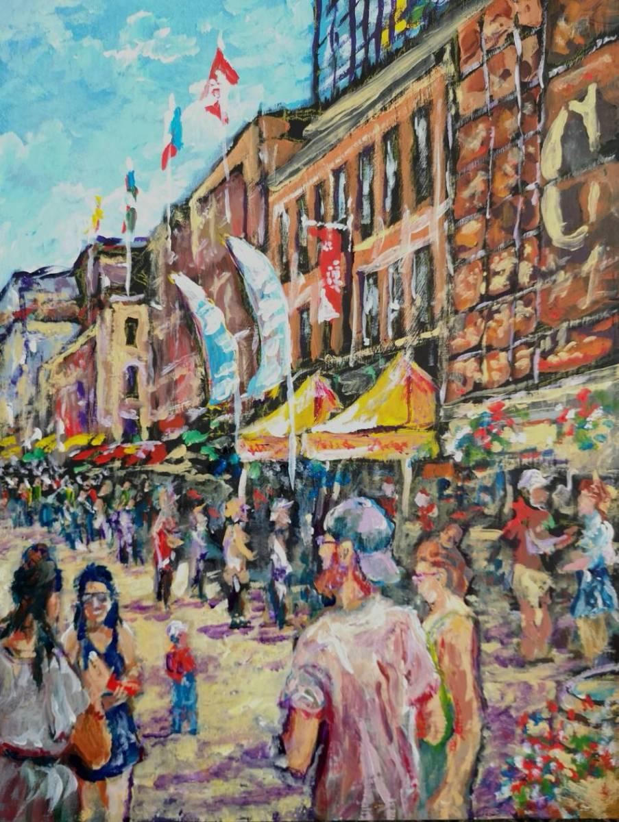 Rib-Fest-Ottawa  12x16 acrylic on wood $250