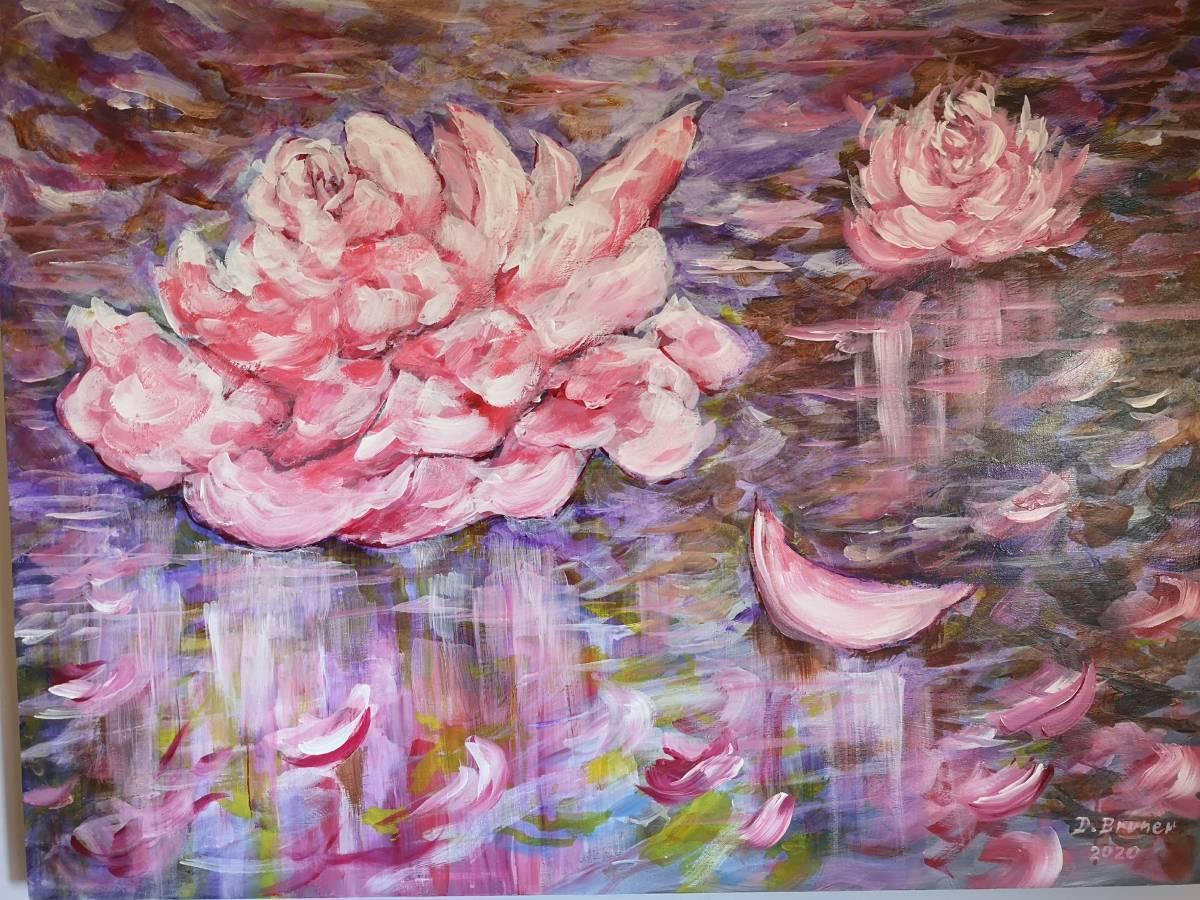 Rose-Floating  30x40 acrylic on wood $1250