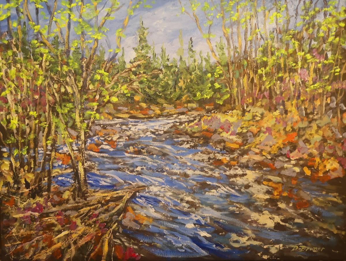 Spring-Runoff  18x24  oil on canvas $520