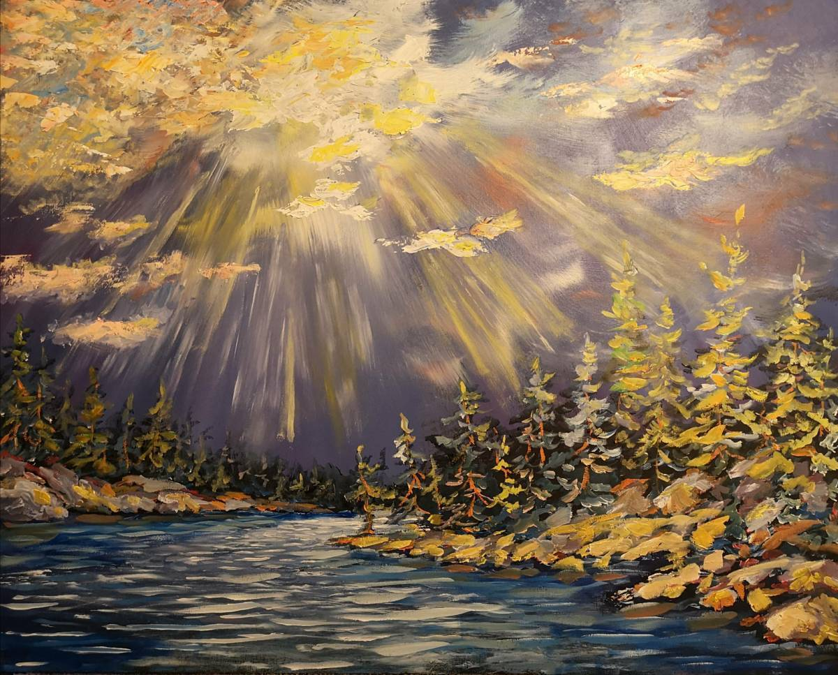 Storm-Passing  24x30 oil on wood  $900