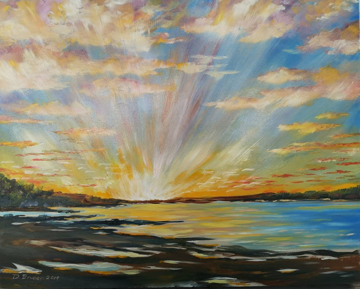 Sunset-on-the-Ottawa-River  16x20 Sold