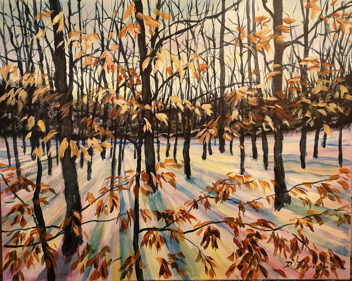 Torbolton-Forest  24x30 acrylic on canvas  $900
